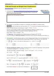 Feld und Energie am Beispiel eines Kondensators - PhysicsNet