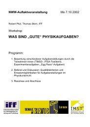 Aufgabensammlung - PhysicsNet