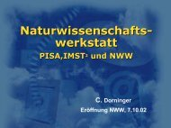 PISA, IMST und NWW - PhysicsNet