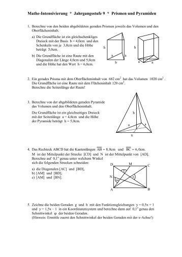 aufgaben zu quadern und prismen. Black Bedroom Furniture Sets. Home Design Ideas