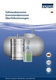 Überfüllsicherungen Grenzstandsensoren ... - FAFNIR GmbH