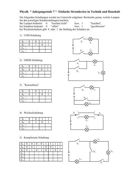 Natur Technik Arbeitsblatt Zum Elektrischen Stromkreis