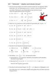 LK Mathematik * K12 * Aufgaben zur Integralrechnung - Physik und ...