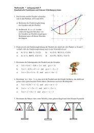 Quadratische Funktionen und Lineare Gleichungssysteme