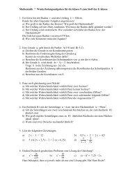 Wiederholungsaufgaben zur Mathematik der 8. Klasse