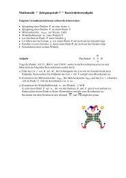 Mathematik * Jahrgangsstufe 7 * Konstruktionsaufgabe