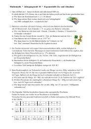 Exponentielles Wachstum - Physik und Mathematik