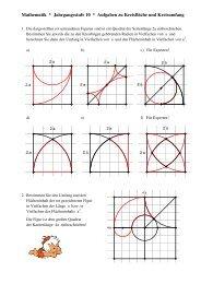 Mathematik * Jahrgangsstufe 10 * Aufgaben zu Kreisfläche und ...
