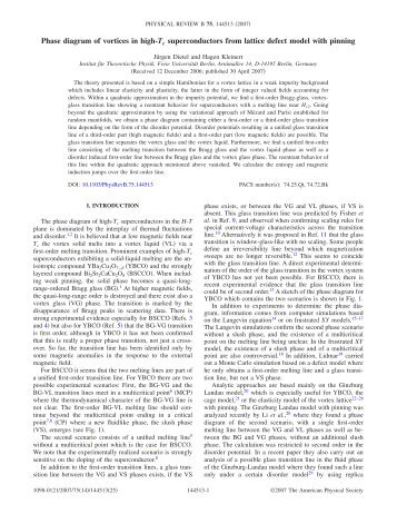 Phase diagram of vortices in high-Tc superconductors from lattice ...
