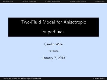 Two-Fluid Model for Anisotropic Superfluids