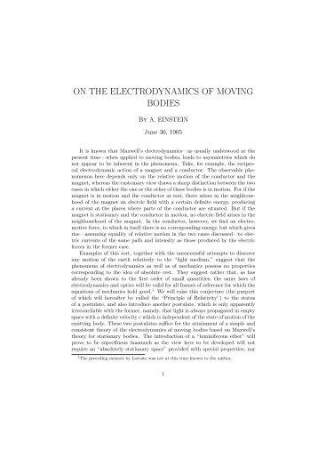 Einstein's 1905 paper