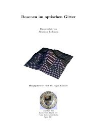Bosonen im optischen Gitter - Fachbereich Physik