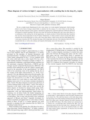 Phase diagram of vortices in high-Tc superconductors with a melting ...