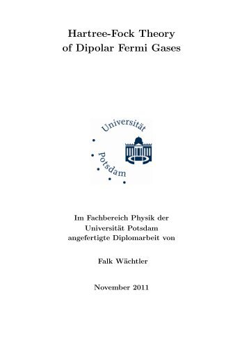 Diploma thesis - Fachbereich Physik