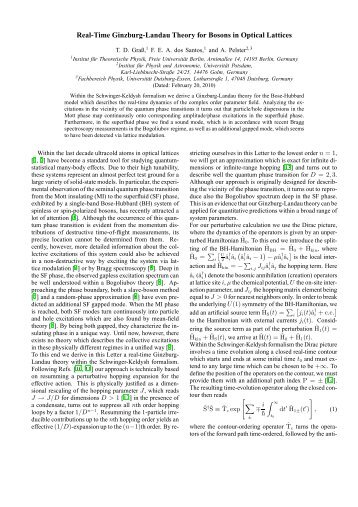 Real-Time Ginzburg-Landau Theory for Bosons in Optical Lattices