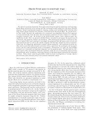 Dipolar Fermi gases in anisotropic traps - Fachbereich Physik - Freie ...