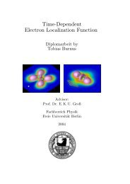 Time-Dependent Electron Localization Function - Fachbereich ...