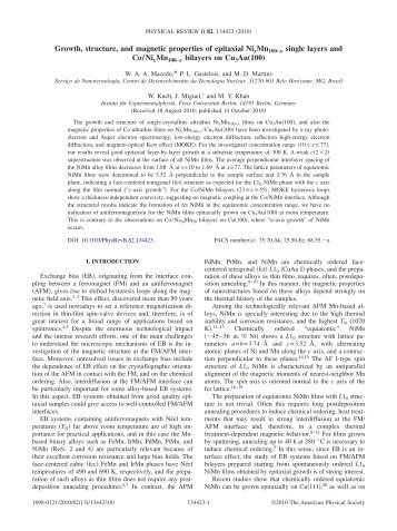 Growth, structure, and magnetic properties of epitaxial ... - CDTN
