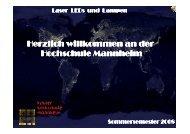 Laser, LED - Hochschule Mannheim