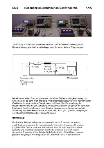 reihenschwingkreis magazine. Black Bedroom Furniture Sets. Home Design Ideas