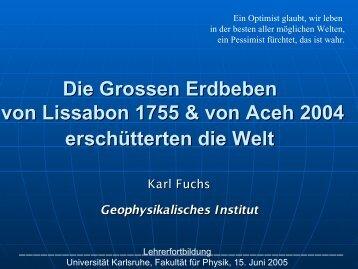 Vortragsfolien PDF - Fakultät für Physik