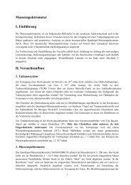 Massenspektrometer I. Einführung II. Versuchsaufbau
