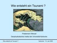 Wie entsteht ein Tsunami ?