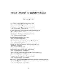 Aktuelle Themen für Bachelor-Arbeiten - KIT