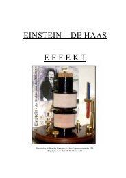 EINSTEIN – DE HAAS E F F E K T