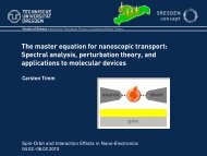 Spectral analysis, perturbation theory, and applications to molecular ...