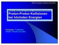 PDF Vortrag - Physikzentrum der RWTH Aachen