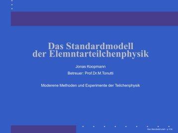 Das Standardmodell der Elemntarteilchenphysik - Physikzentrum ...