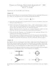 """¨Ubungen zur Vorlesung """"Relativistische Quantentheorie"""" – SS09"""