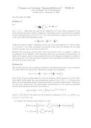 """¨Ubungen zur Vorlesung """"Quantenfeldtheorie I"""" – WS09/10"""