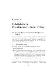 Relativistische Quantentheorie freier Felder - Physikzentrum der ...