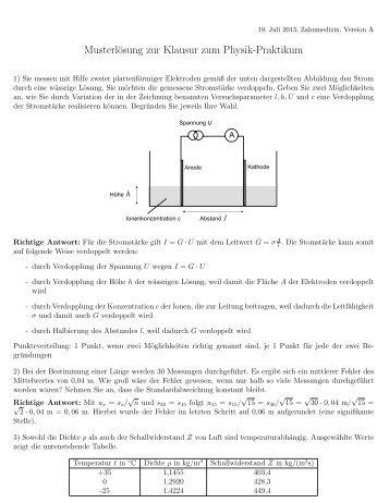 Aufgabenstellung inkl. Lösungen 19.7.2013 - Physikzentrum der ...