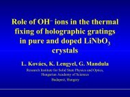 Role of OH– ions in the thermal fixing of holographic gratings in pure ...