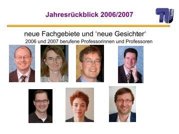 Jahresrückblick 2006/2007 - TU Berlin
