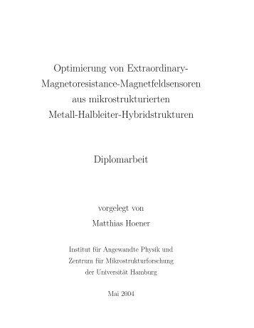 Optimierung von Extraordinary- Magnetoresistance ...