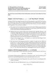 11. Übungsblatt zur Vorlesung WS 2011/2012 Einführung in die ...