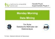 Monday Morning Data Mining - Fakultät Physik