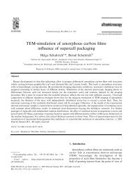 TEM-simulation of amorphous carbon films: influence of supercell ...