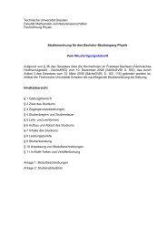 Modulbeschreibung - Fachrichtung Physik - Technische Universität ...