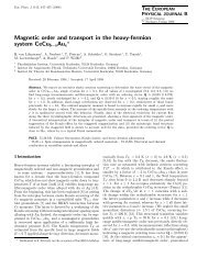 Magnetic order and transport in the heavy-fermion - Technische ...