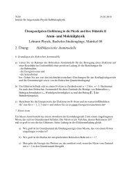 Atom- und Molekülphysik Lehramt Physik, Bachelor-Studiengänge ...
