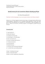 vorläufige Studienordnung, inkl. Modulbeschreibungen