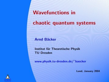 Course - Wavefunctions in chaotic quantum systems