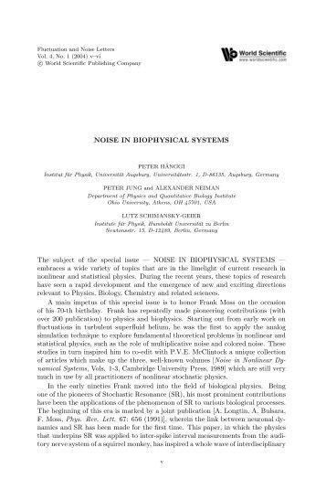 Preface - Institut für Physik - Universität Augsburg