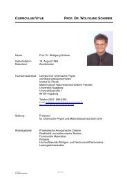 curriculum vitae prof. dr. wolfgang scherer - Institut für Physik ...