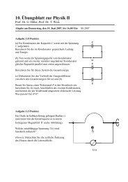 10. Übungsblatt zur Physik II